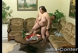 That babe is fat, housewife plus fucks horny.