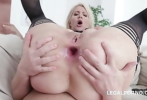 Curvy Layla Suffuse gets 4on1 Balls Deep Anal, DAP and TP