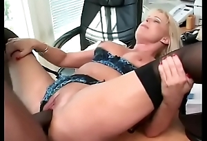 Cute blonde give of the first water Bristols gets pounded by Black men's enormous cocks