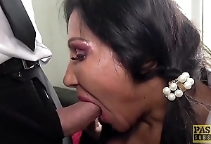 PASCALSSUBSLUTS - Ugly British MILF gets will not hear of holes slammed
