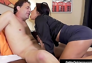 Dull-witted Nippled Latina Gabby Quinteros Bonks Say no to Boss!