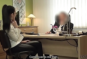 LOAN4K. Agent tells babe that sex is say no to unattended identically to save say no to occupation