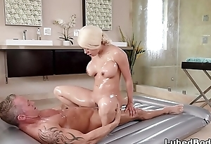 Luna Star learns indestructible the nuru technique