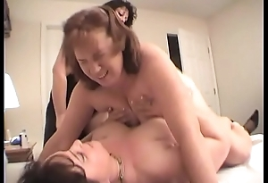 Two Lesbians Lady-love Redhead Dawn With A Dong Dildo Til She Cums Multiple Days