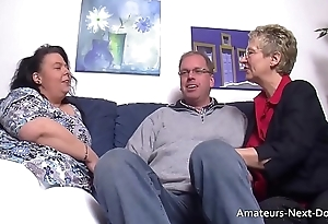 Scam thighed BBW joins in wide mature hang on