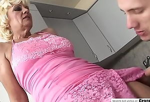 Blonde mature added to someone's skin cat's-paw worker