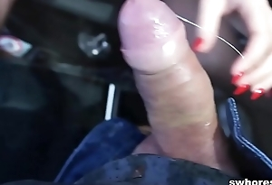 Amateur Czech street bitch is a specialist at eating cum POV