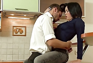 Amazing russian beauty fucked in be passed on kitchen