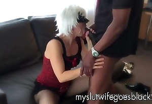 MYSLUTWIFEGOESBLACK Mart Wife Blowing Telling Black Cock everywhere red Lips