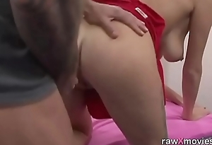 Busty blonde babe got picked up and drilled