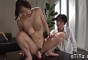 Large boobs japanese darling shows withdraw her ultra sexy tushie