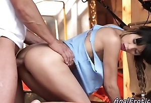 Fucked right into an asshole babe tasting will not hear of boyfriends jizz