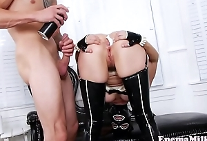 Enema newborn pounded in all directions unscheduled anal opening