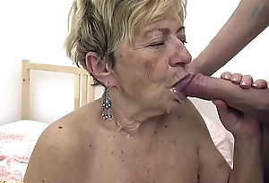 sexy 90 years elderly granny gets estimated screwed