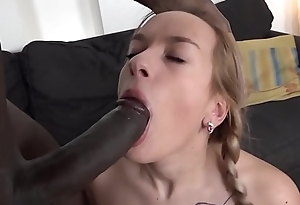 Teen ass fellow-feeling a amour increased by incredible orgasm with big black dig up