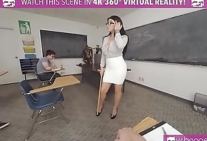 VRBangers.com - Sexy Teacher Romi Rain Getting Rammed By A Sexy Stud