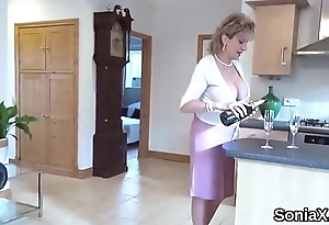 Cheating british milf lady sonia endowments her monster boobies