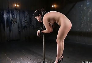 Sleek Oriental in the matter of advanced subjugation anal fingered